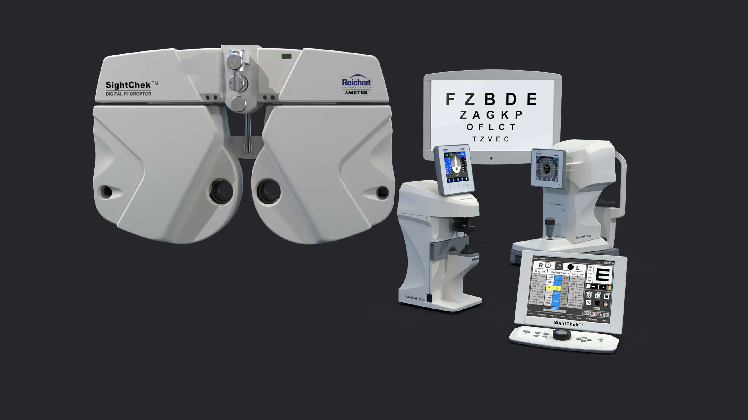 Design of an entire product line of vision testing equipment
